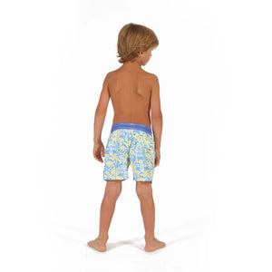 Boys Trunks (Mustique Toile Yellow/Blue) back
