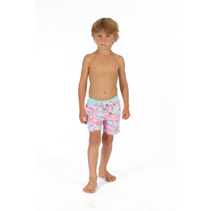 Boys Trunks (Mustique Toile Blue/Pink) front