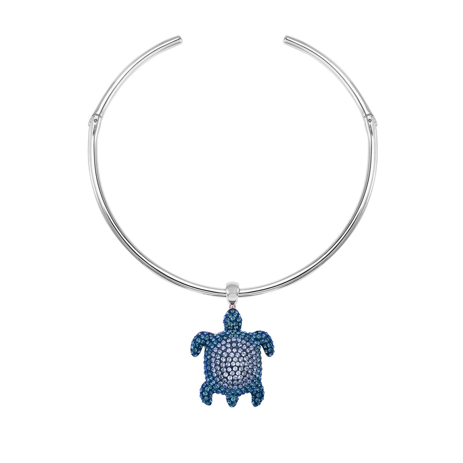 Choker Necklace : MUSTIQUE SEA LIFE TURTLE - BLUE designed by Catherine Prevost for Atelier Swarovski in aid of the St Vincent & the Grenadines Environment Fund