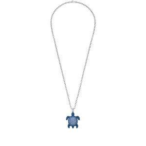 Large Pendant : MUSTIQUE SEA LIFE TURTLE - BLUE designed by Catherine Prevost for Atelier Swarovski Bold wildlife motifs capture and celebrate the spirit of endangered and at risk species in St. Vincent & the Grenadines sparklingwith crystals in vibrant Caribbean shades.