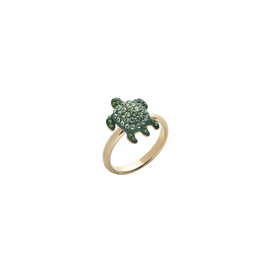 Cocktail Ring : MUSTIQUE SEA LIFE SMALL TURTLE - GREEN designed by Catherine Prevost in collaboration with Atelier Swarovski is in aid of the St. Vincent & the Grenadines Environment Fund.
