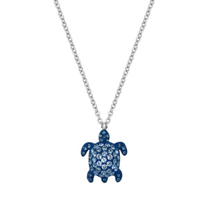 Small Pendant : MUSTIQUE SEA LIFE TURTLE - BLUE designed by Catherine Prevost in collaboration with Atelier Swarovski is in aid of the St. Vincent & the Grenadines Environment Fund.