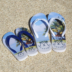 Childrens Flip flops: LAGOON PALMS also available in adult sizes