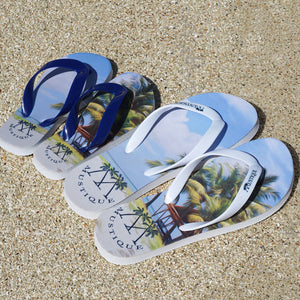 Adult Flip flop: LAGOON PALMS also available in kids sizes
