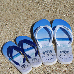 Father & Sons or Mother & daughters set Flip flops: MACARONI BEACH Mustique