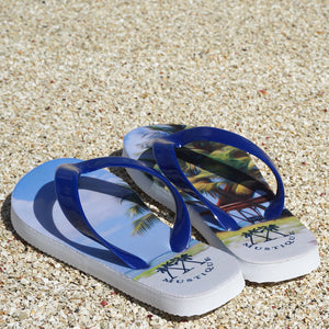 Childrens Flip flops: LAGOON PALMS on the beach