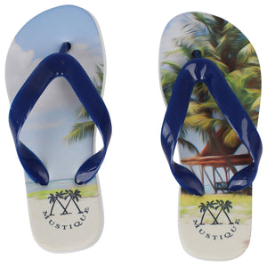 Childrens Flip flops: LAGOON PALMS top