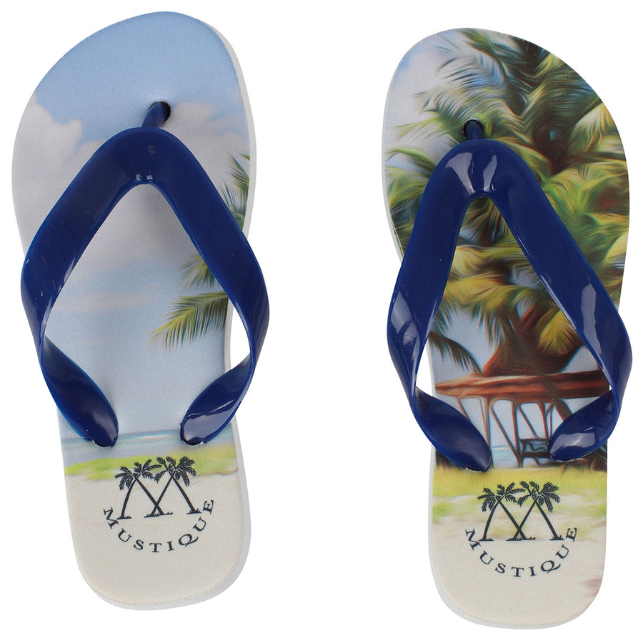 Childrens Flip flops: LAGOON PALMS side