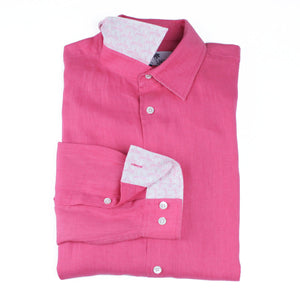 Childrens Linen Shirt: HOT PINK