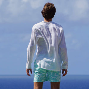 Mens swim shorts: WHALE - TURQUOISE