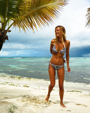 Womens Triangle Bikini : BANANA TREE - NAVY Beautiful holiday styles Mustique holiday fashion