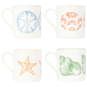 Fine Bone China Mug : SEASTAR - ORANGE designer collection Lotty B Mustique Home