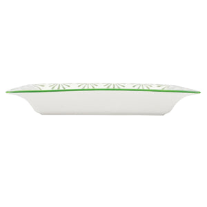 🌴 Fine Bone China Tray : SHELL - GREEN