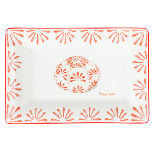 Fine Bone China Tray : URCHIN - RED designer Lotty B Mustique. Build your collection.