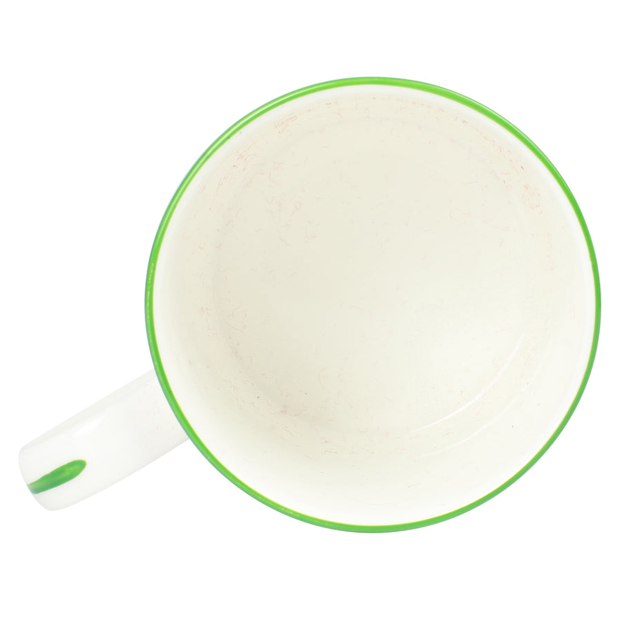 Fine Bone China Mug : SHELL - GREEN designer Lotty B Mustique
