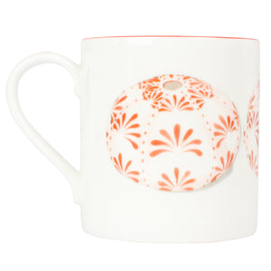 Fine Bone China Mug : URCHIN - RED designer Lotty B Mustique beautiful gifts