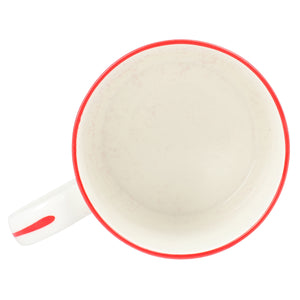 Fine Bone China Mug : URCHIN - RED designer Lotty B Mustique homeware