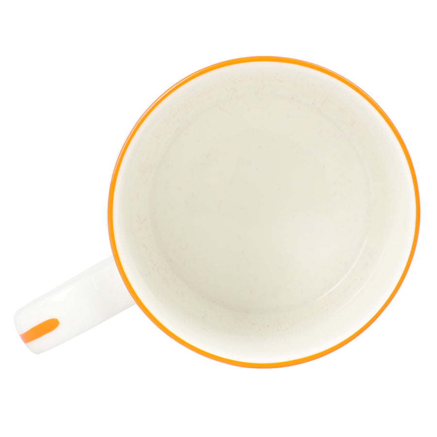 Fine Bone China Mug : SEASTAR - ORANGE designer Lotty B Mustique
