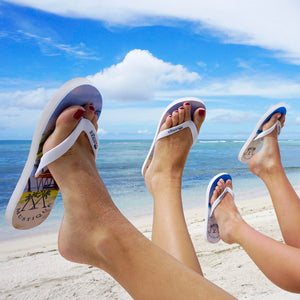 Adult Flip flop: MACARONI BEACH happy feet