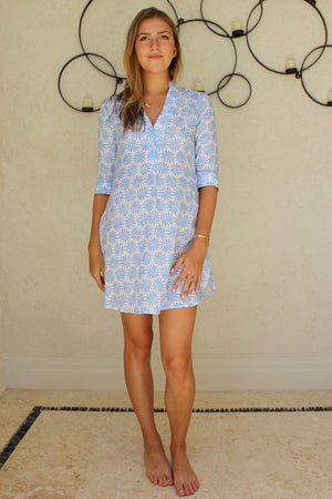 Womens Linen Flared Dress: CACTUS Mustique lifestyle