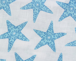 Lotty B Tablecloth & Napkin set: SEASTAR - BLUE swatch