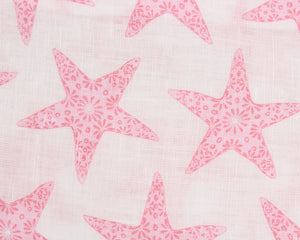 Lotty B Tablecloth & Napkin set: SEASTAR - PINK swatch