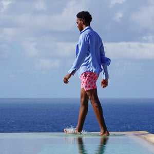 Mens swim shorts: POMEGRANATE - PINK