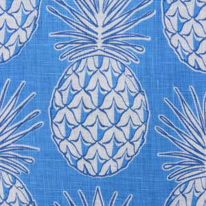 Childrens Linen Shirt: PINEAPPLE - BLUE swatch