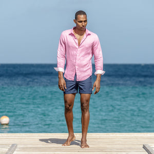 Mens Beach Shorts : MAKO NAVY Mustique style