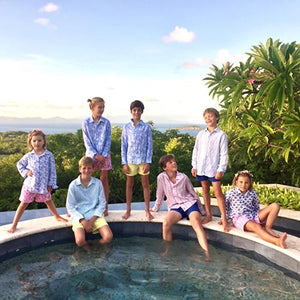 Childrens holiday style designed by Lotty B Mustique