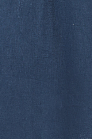 Pure linen swatch in Ensign Blue by Lotty B for Pink House Mustique