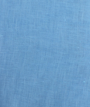 Womens Linen Flared Dress: FRENCH BLUE fabric detail