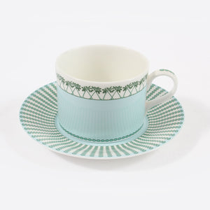 Fine Bone China Dinner Service : MUSTIQUE ISLAND - Coffee Cup & Saucer