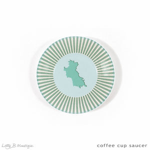 Fine Bone China Dinner Service : MUSTIQUE ISLAND - Coffee Saucer