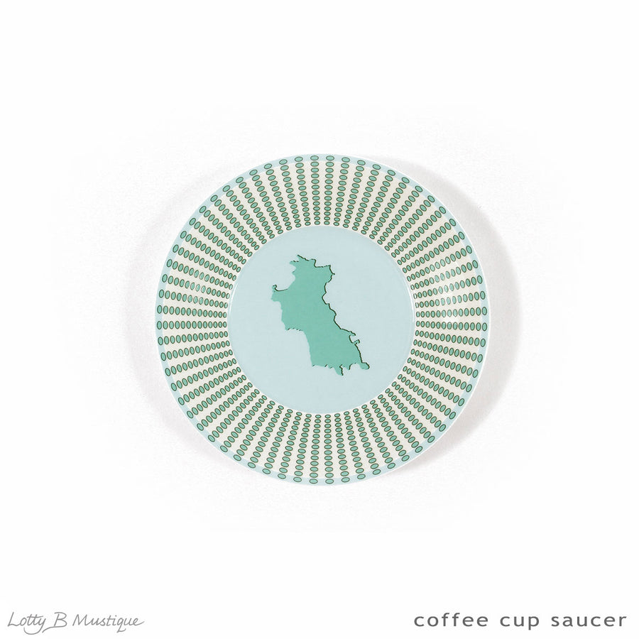 Fine Bone China : COFFEE SET - Mustique style designed by Lotty B