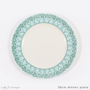 Fine Bone China Dinner Service : MUSTIQUE ISLAND - Dinner plate 30cm