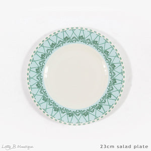 Fine Bone China Dinner Service : MUSTIQUE ISLAND - Salad plate 23cm