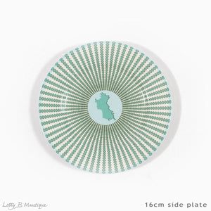 Fine Bone China Dinner Service : MUSTIQUE ISLAND - Side plate 16cm