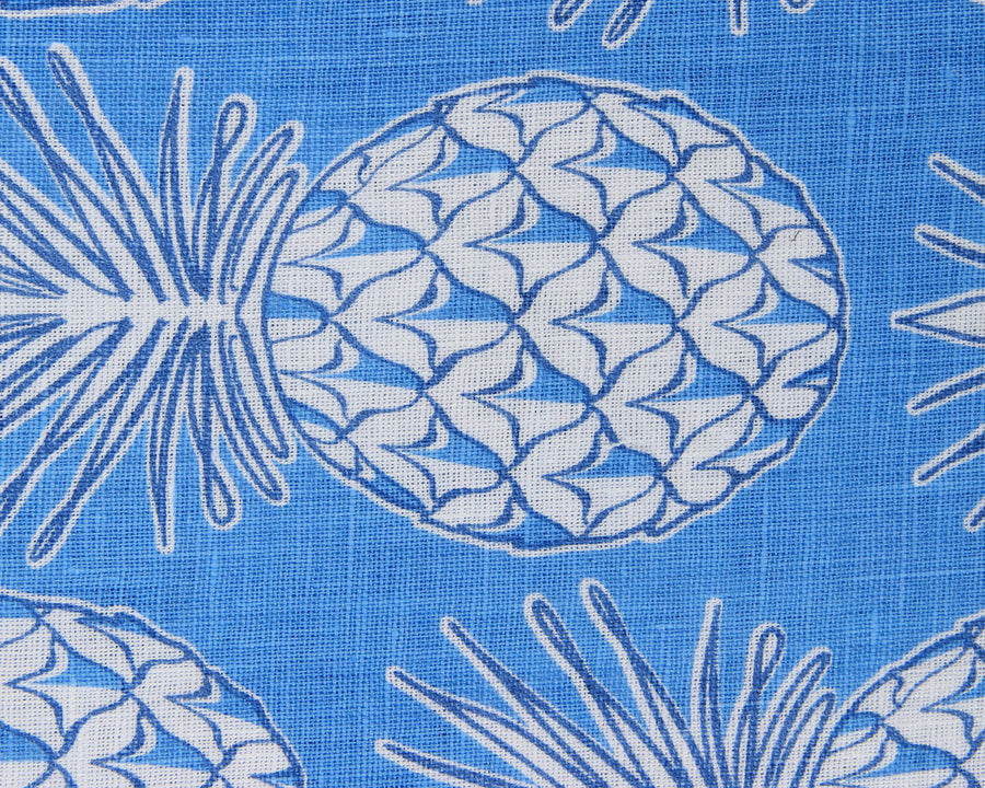 Lotty B Tablecloth & Napkin set: PINEAPPLE - BLUE