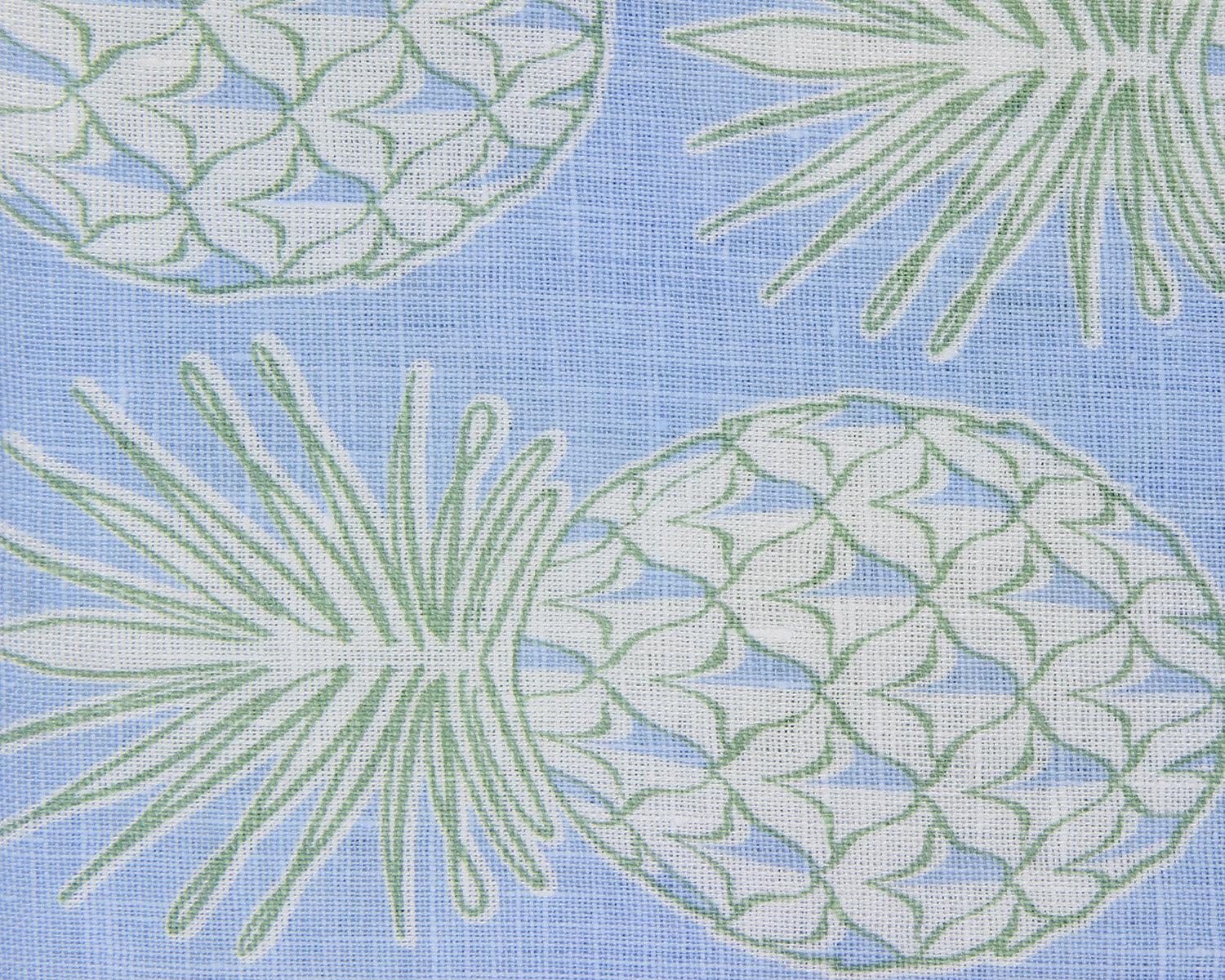 Lotty B Tablecloth & Napkin set: PINEAPPLE - OLIVE swatch
