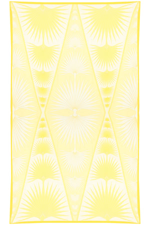 Lotty B Sarong in Silk Crepe-de-Chine: FAN PALM - YELLOW