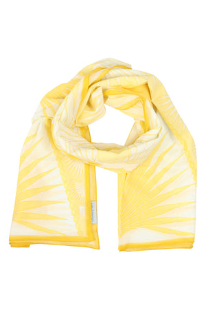 Lotty B Sarong in Cotton: FAN PALM - YELLOW scarf