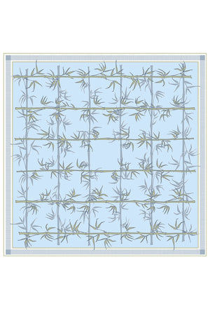 Lotty B Silk Chiffon Scarf ~ Bamboo (Pale Blue)