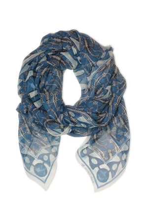 Lotty B Sarong in Silk Chiffon (Shark, Grey) Scarf