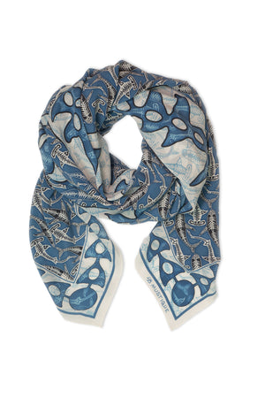 Lotty B Sarong in Silk Crepe-de-Chine (Shark, Grey) Scarf