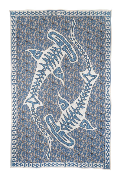 Lotty B Sarong in Silk Crepe-de-Chine (Shark, Grey)