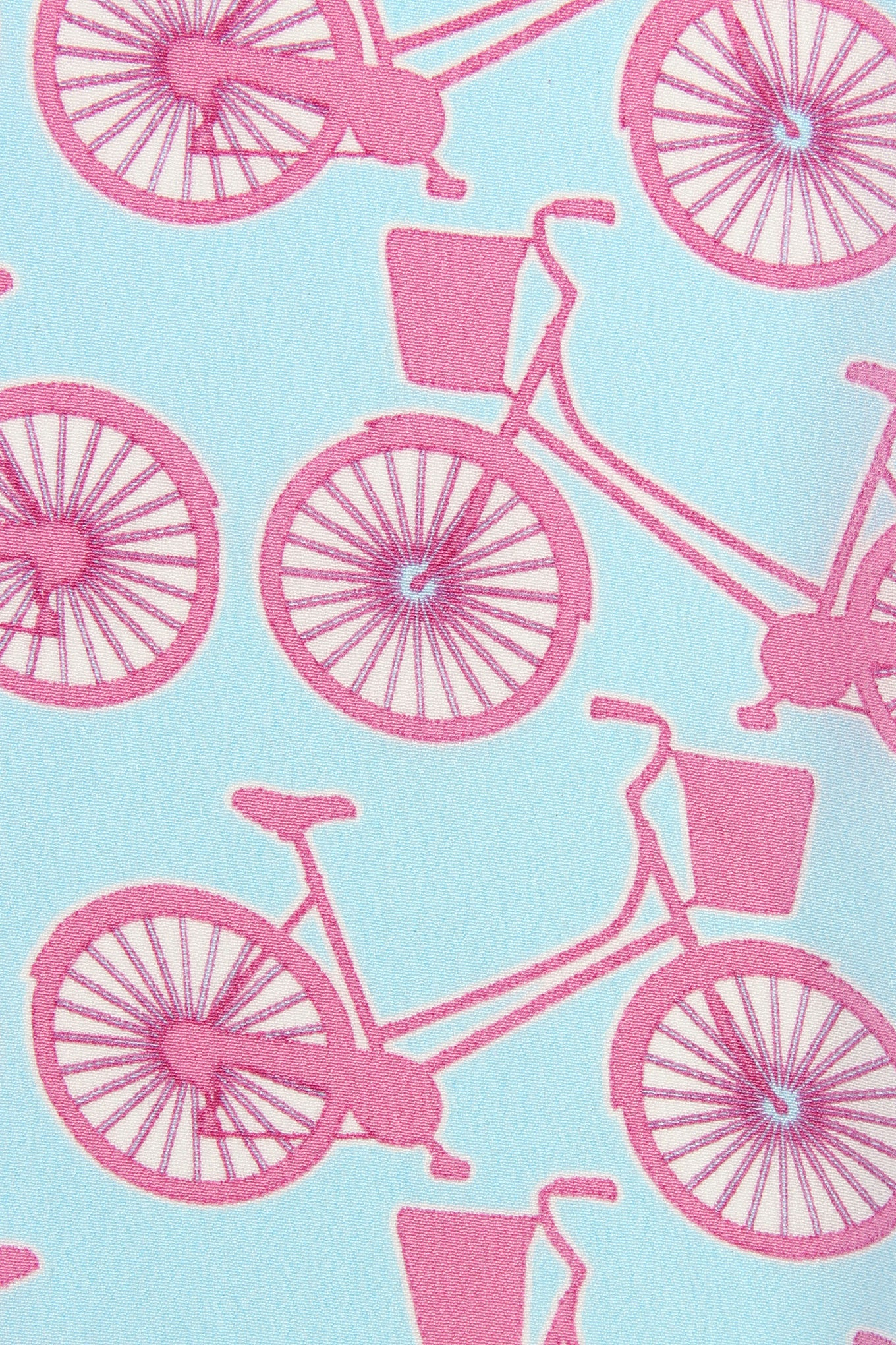 Lotty B Silk Crepe-de-Chine Long Scarf BICYCLE REPEAT - PINK swatch