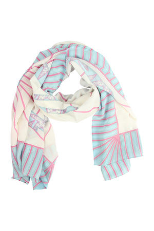 Lotty B Sarong in Silk Crepe-de-Chine: BICYCLE - PINK scarf