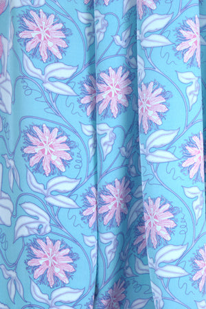 Lotty B Sarong in Silk Crepe-de-Chine (Passion Fruit Blue)