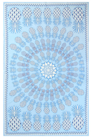 Lotty B Sarong in Silk Chiffon: PINEAPPLE - BLUE